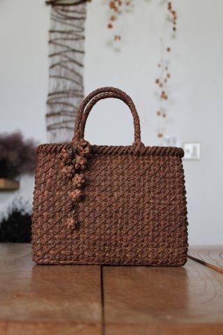 山葡萄みつ編みバッグ ミディアムタイプ